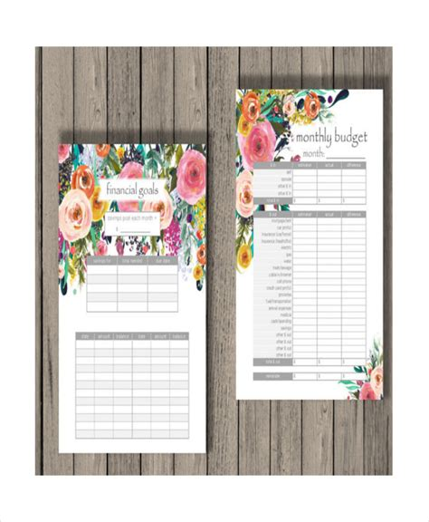 monthly budget calendar template printable blank monthly budget template