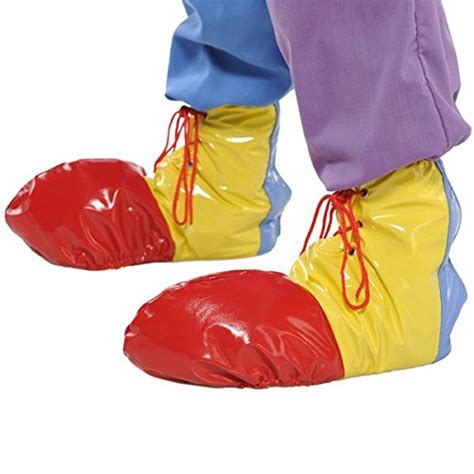 amscan 840950 goofy and costume clown shoe covers yellow blue vinyl one size