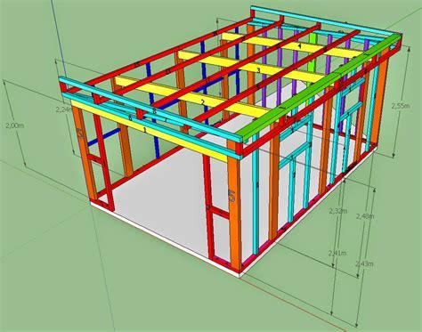 Abri De Jardin Bois 20m2 1050 by Maison Bois En Kit Toit Plat 7 Oregistro Plan Abri De