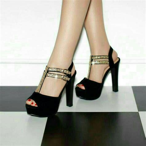 Sepatu Wanita Black Gold jual black gold fashion high heels shoes kasut sepatu