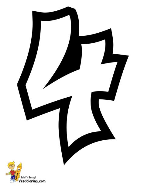 Throw Up Graffiti Coloring Pages | Free | Alphabet