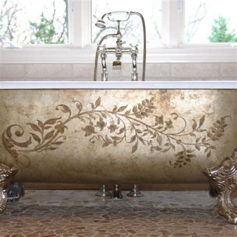 painted bathtubs stencil patterns picmia