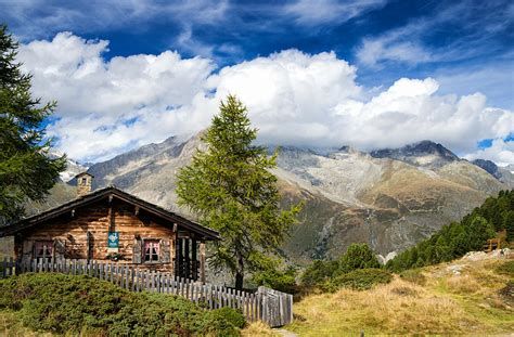 Cottages In Switzerland by Cottage In The Swiss Alps Switzerland Photograph By