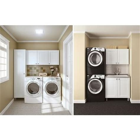 Hton Bay Modular Cabinet Solutions Arctic White Home Depot Laundry Room Cabinets