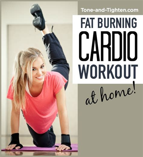 28 images of burning cardio workout at home