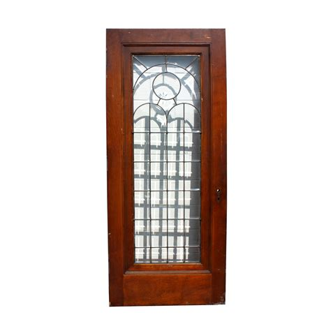 Stained Glass Front Doors For Sale Beautiful 34 Salvaged Exterior Door With Beveled Leaded Glass Cut Ned167 For Sale