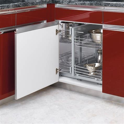 kitchen cabinet blind corner rev a shelf blind corner optimizer for 15 quot opening chrome 5psp15 cr cabinetparts