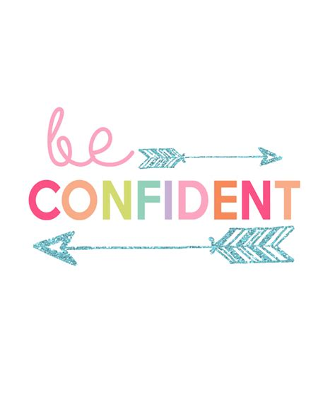 printable posters online be confident printable kids prints series day 2 the