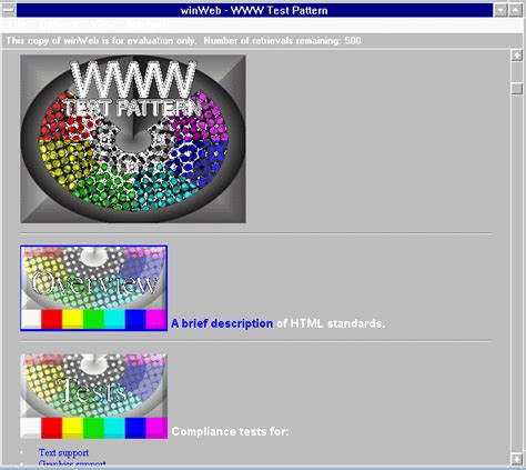 compliance test pattern enable or disable html compliance and the return of the test pattern