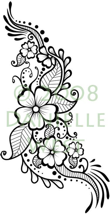 flower pattern to draw pakistan cricket player henna flower designs