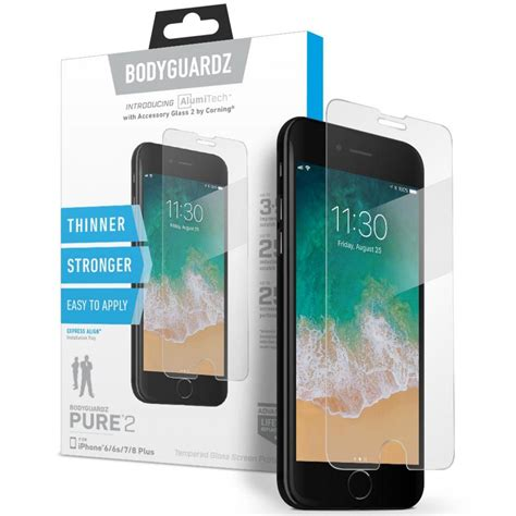 bodyguardz tempered glass screen protector iphone 8 plus