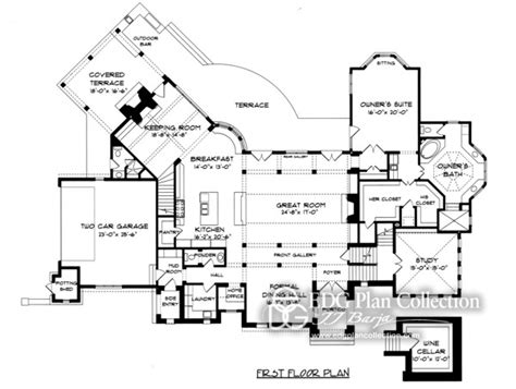 gothic floor plans gothic house plan