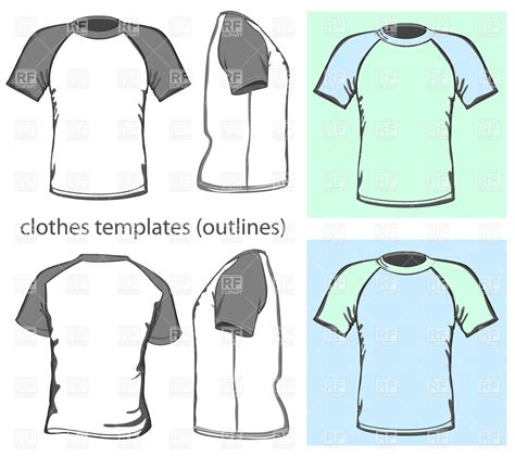 sleeve t shirt template vector free raglan sleeve t shirt design template vector clipart image
