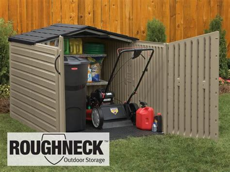 Storage Shed For Lawn Mower by Roughneck Slide Lid Shed Megan
