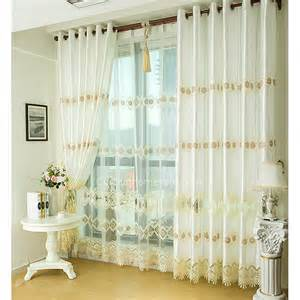 fantaisie broderie energy saving or blanc et rideaux
