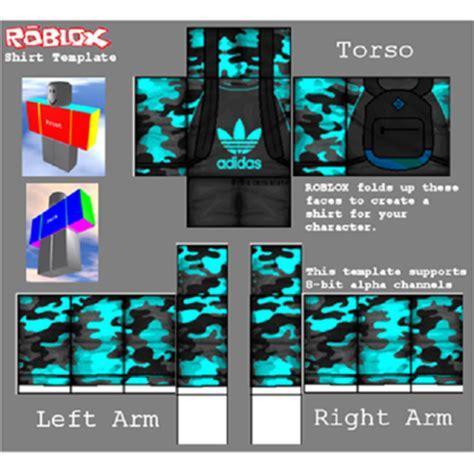 Adidas Camo Blue Shirt Roblox Roblox Shirt Design Template