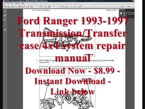how to download repair manuals 1988 ford ranger navigation system 1993 94 95 96 97 98 99 ford ranger 4r44e 5r55e transmission repair manual download youtube