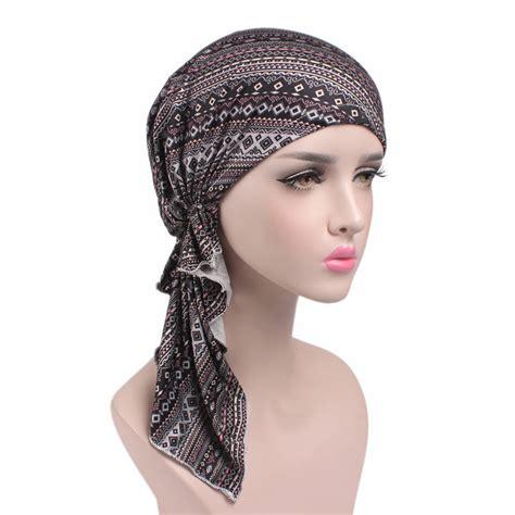 pre chemo silver aztec pre tied chemo head scarf chemotherapy