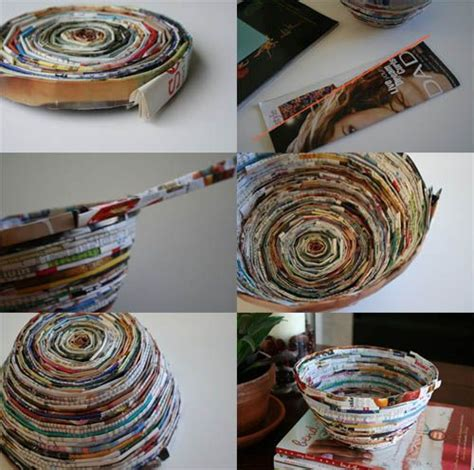 How To Make Paper Bowls From Magazines - 17 best ideas about recycled magazine crafts on