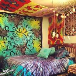 tie dye hippie room bedroom ideas