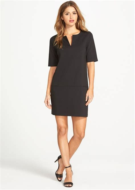 Dress Of The Day Black Ponte Shift Dress At Debenhams by Halogen Halogen 174 Split Neck Ponte Shift Dress Regular