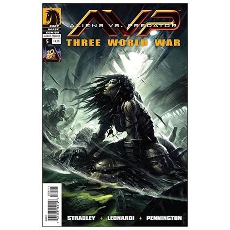 aliens vs predator three world war 5 comic book dark