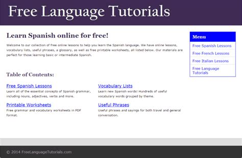 language tutorial website 41 best free websites to learn spanish online