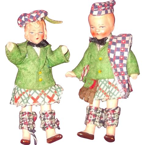 composition doll cleaner pair of composition doll house miniature boy and doll