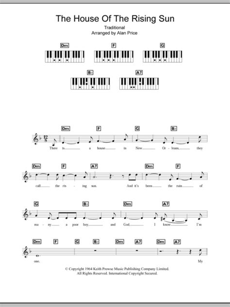 house of the rising sun ukulele chords the house of the rising sun sheet music direct