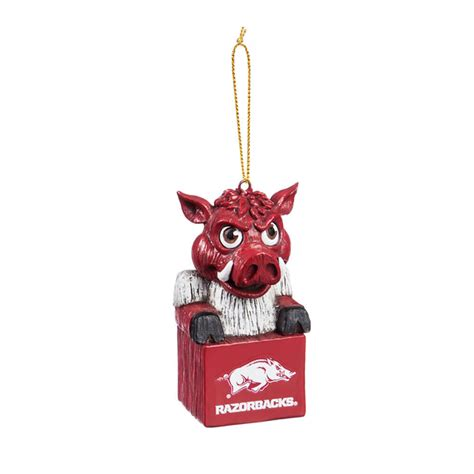 arkansas razorbacks mascot christmas ornament ee3ot911mas