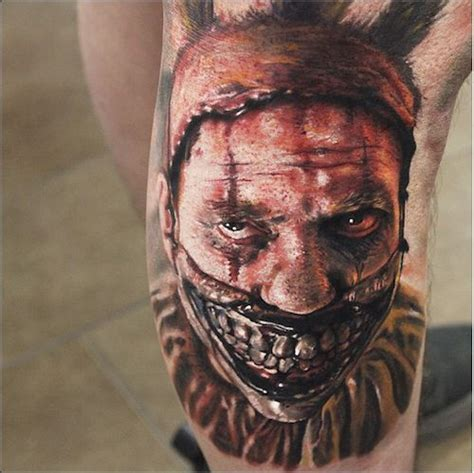 30 terrifying clown tattoo designs amazing tattoo ideas