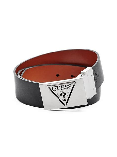Guess Where This Belt Is From Go On Guess by Reversible Triangle Plaque Belt Guess Ca