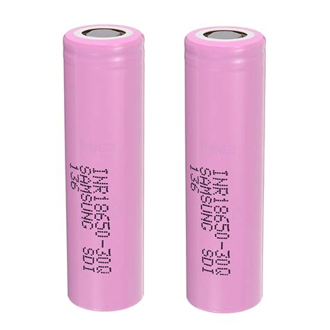 2pcs inr18650 30q 3000mah 20a plate li ion battery with box for samsung alexnld