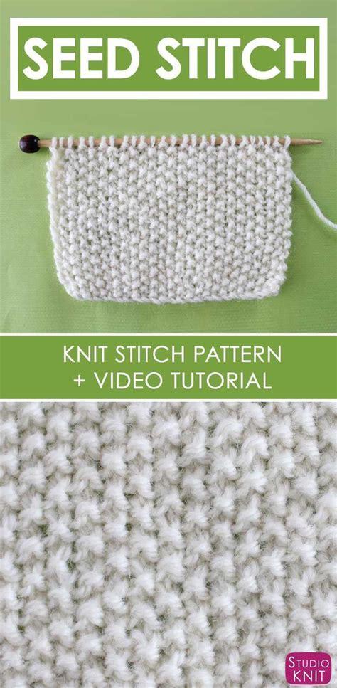 knit seed stitch best 25 seed stitch ideas on knit stitches