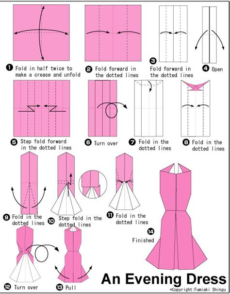 Paper Origami Dress - 25 best ideas about origami dress on how to