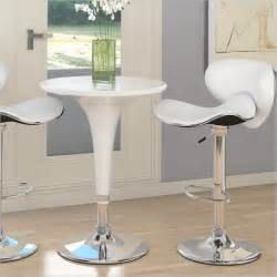 White Bar Table And Stools Sonax Corliving 3 Pc Height Bar Table White Pub Set Ebay