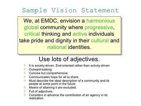 game design vision statement strategic planning workshop