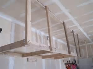 diy hanging garage shelves 25 best ideas about overhead garage storage on