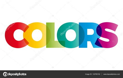 color text the word colors vector banner with the text colored