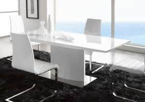 Dining Room Tables Contemporary by Extremely Contemporary White Lacquered Dining Table With