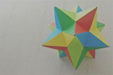 Origami Stellated Dodecahedron - origami lesser stellated dodecahedron meenakshi mukerji