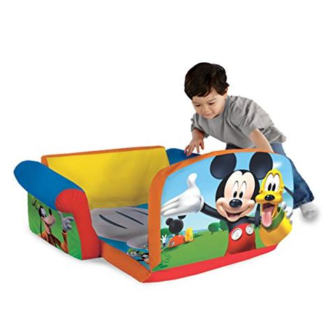 mickey mouse flip couch marshmallow furniture children s upholstered 2 in 1 flip