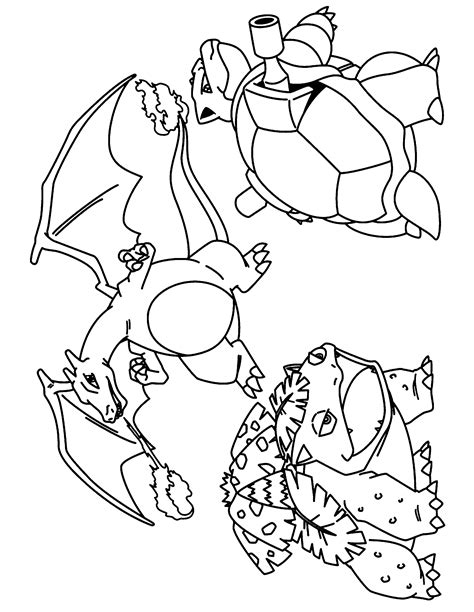 pokemon coloring pages mega blastoise printable coloring