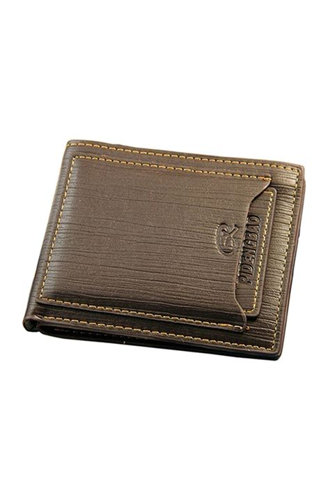 coffee faux leather business card pidengbao faux leather bifold wallet slim purse credit card holder coffee ebay