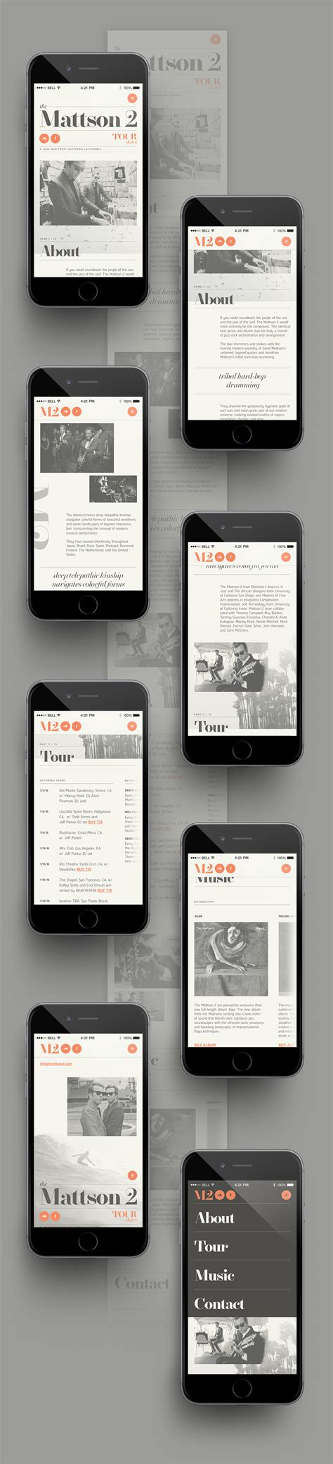 mobile layout design inspiration web the mattson 2 concept on behance