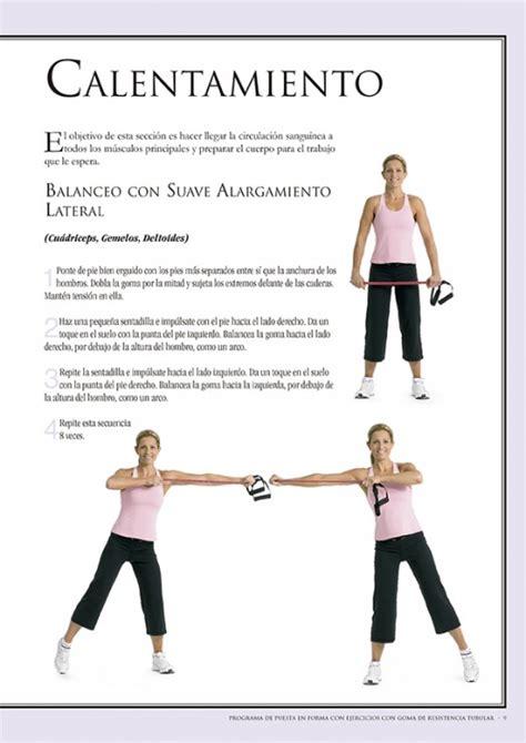 libro una forma de resistencia programa de puesta en forma con ejercicios con goma de resistencia tubular ediciones tutor