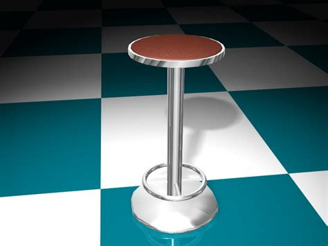 Floor Stool by Floor Fixed Bar Stool 3d Model 3d Studio 3ds Max Files