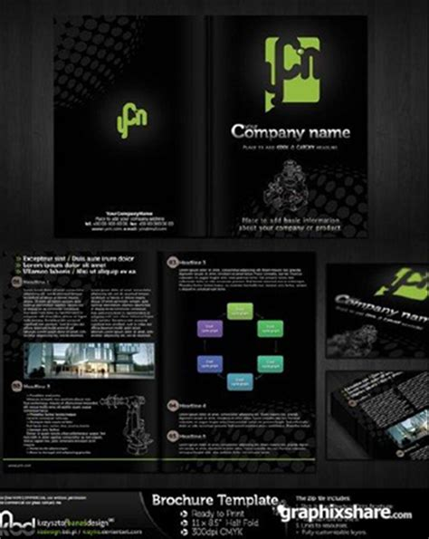black brochure template 10 free brochure design templates