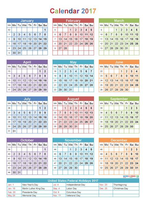 Usable Calendar Template 2017 yearly calendar printable templates usable calendar