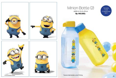 Tupperware Bottle Minum minion bottle tupperware botol minum tupperware
